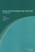 Legal Institutions and Method - 4th Ed