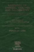 Handbook of Thermal Analysis and Calorimetry, Volume 3