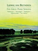 Alfred 06-408485 Five Great Piano Sonatas - Music Book