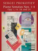 Alfred 06-421287 Piano Sonatas Nos. 1-4- Opp. 1- 14- 28- 29 - Music Book