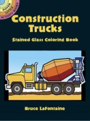 Construction Trucks Stained Glass Coloring Book (Dover Little Activity Books