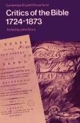 Critics of the Bible, 1724-1873