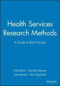 Health Services Research Methods