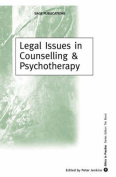 Legal Issues in Counselling and Psychotherapy