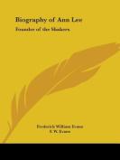 Biography of Ann Lee