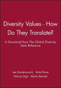 Diversity Values - A Download from the Global Dive Rsity Desk Reference