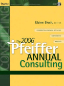 The Pfeiffer Annual Consulting [With CD-ROM]