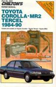 Toyota Corolla, Tercel and MR2 1984-90 Repair Manual