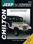 Jeep CJ/Scrambler 1971-86 Repair Manual