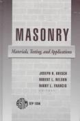 Masonry Materials Testing and Applications