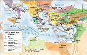 Paul's Missionary Journeys Map