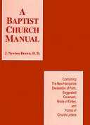 Baptist Church Manual, the