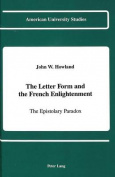 Letter Form and the French Enlightenment