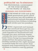The Easter Proclamation of the Irish Republic, 1916
