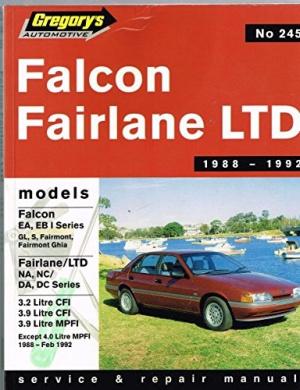 Ford Falcon Ea/Fairlane/Ltd/Ea/Na/DA/Eb/Nc/DC Series 1, 6 Cyl (1988-92): Ea, Na, DA:Series 1
