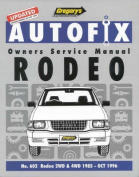Gregory's Autofix Owner's Service Manual Rodeo