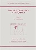 Teti Cemetery at Saqqara Vol 6
