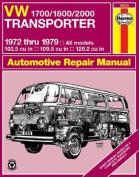 Volkswagen Transporter 1700, 1800, 2000c.c., Owner's Workshop Manual