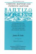 Christic & Patristic Baptism