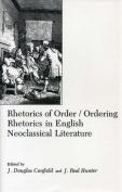 Rhetorics Of Order