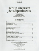 Violin I String Orchestra Accompaniments to Solos from Volumes 1 & 2