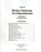 Violin II String Orchestra Accompaniments to Solos from Volumes 1 & 2