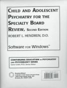 Child and Adolescent Psychiatry for the Specialty Board Review [With *]