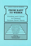 From Kant to Weber