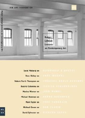 Robert Lehman Lectures on Contemporary Art: No. 2