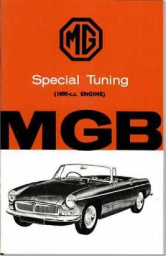 MG MGB 1800 Tuning: Owners' Handbook by Brooklands Books Ltd.