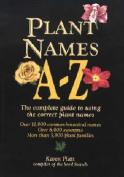 Plant Names A-Z