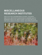 Miscellaneous Research Institutes