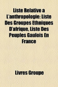 Liste Relative A L'Anthropologie [FRE]