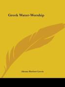 Greek Water-Worship