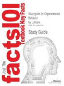 Studyguide for Organizational Behavior by Luthans, ISBN 9780072873870