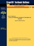 Studyguide for Focus on Behavior Analysis in Education