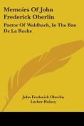Memoirs of John Frederick Oberlin