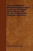 Pocket Handbook of Blowpipe Analysis; Designed for the Use of Students and Prospectors with the Idea of Making Oral Instruction Unnecessary