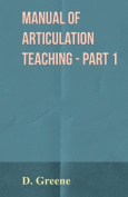 Manual of Articulation Teaching - Part 1