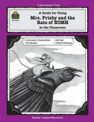 "A Guide for Using ""Mrs. Frisby and the Rats of NIMH"" in the Classroom"