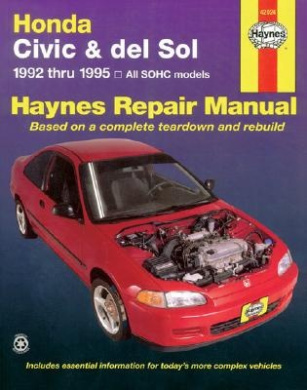 Honda Civic and Del Sol Automotive Repair Manual: 1992 to 1995 (Haynes Automotive Repair Manuals)