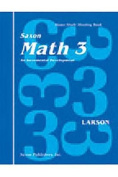 Saxon Math 3 Home Study Kit First Edition