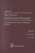 Surveys in Differential Geometry Vol III