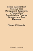 Critical Ingredients of Intensive Case Management