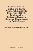 A Review of Books, Studies and Journal Articles Published in the U.S.A. from 1955-1995 Relating to the