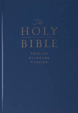 ESV Pew and Worship Bible, Large Print (Navy Blue)
