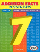 Addition Facts in Seven Days, Grades 2-4