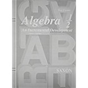 Saxon Algebra 1/2 Tests Only Third Edition