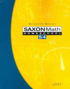 Saxon Math Homeschool 5/4