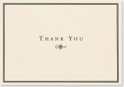 Black & Cream Thank You Notes
